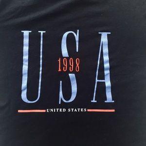 Topshop Tops - Topshop USA 1998 Crop Tee in Black